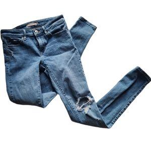 Levi's 711, Distressed skinny jeans- Size 25